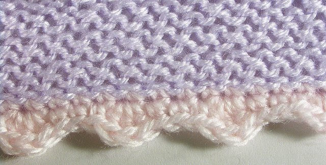 how to finish edges of crochet blanket