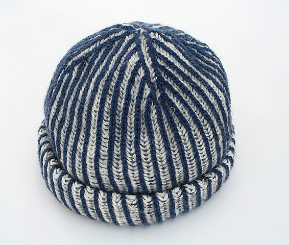 Knitting Brioche Stitch Hat : Two-Color Brioche Hat