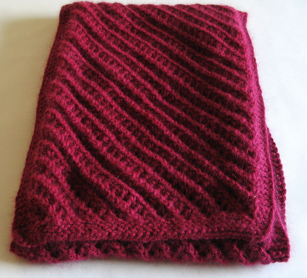 Raspberry Scarf and Mittens