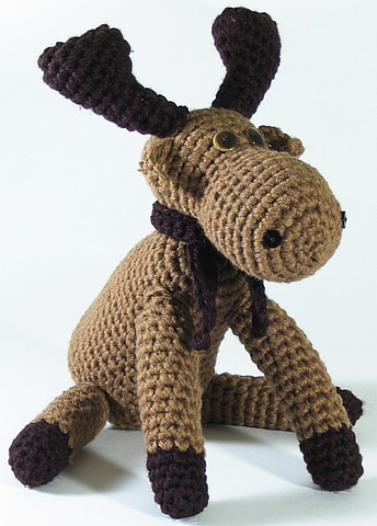 Crocheted Toy Moose