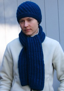 Simple Lace Scarf and Hat