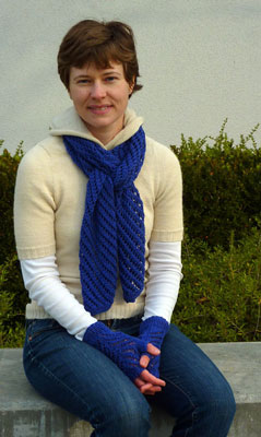 Purple Scarf and Wrist Warmers
